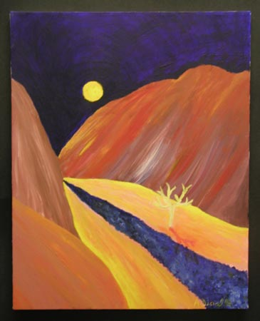 Colorado River Acrylic on Canvas, 12 x 16 in. For Sale