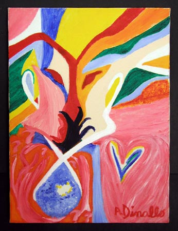 Love and Tears Acrylic on Canvas, 12 x 16 in. For Sale