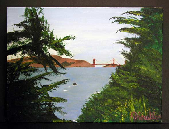 San Francisco Acrylic on Canvas, 16 x 12 in.