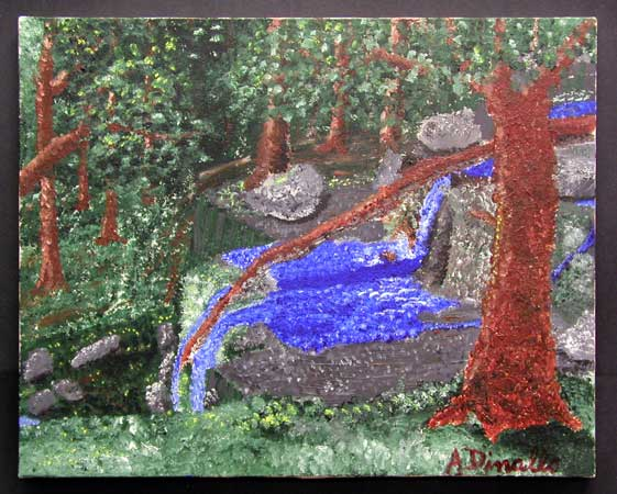 Ramapo Reservation Acrylic on Canvas, 20 x 16 in. For Sale
