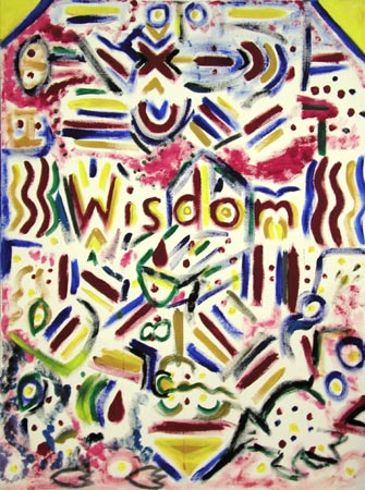 Wisdom Acrylic on Canvas, 36 x 48 in. For Sale