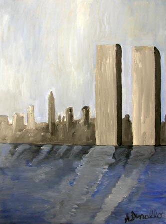 WTC Acrylic on Canvas, 8 x 12 in.